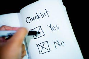 checklist yes