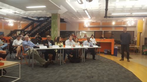 Judging Startup Competition at American Underground in Durham, NC