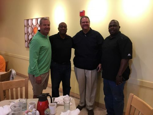 With Trey, Chris and Chuck - friends from my days at Bowling Green High in Kentucky